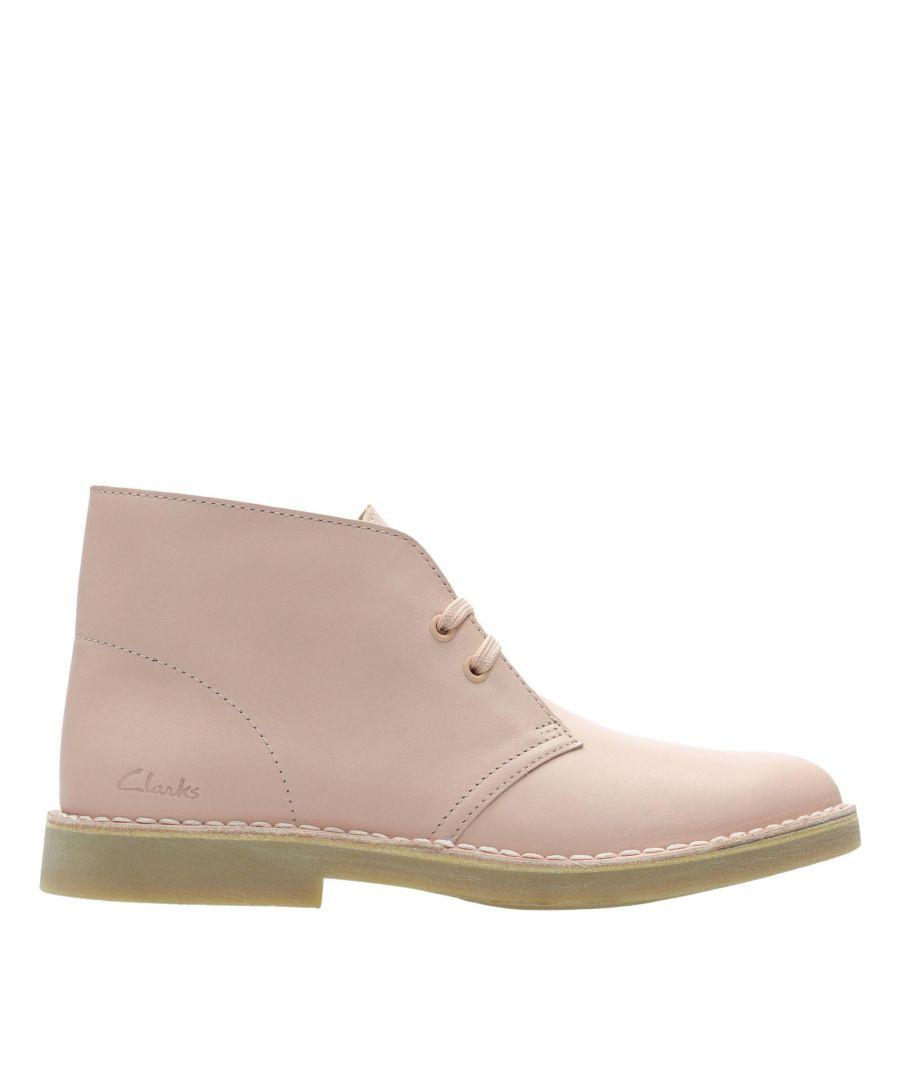 Image for Clarks Desert Boot 2 26156376 Light Pink