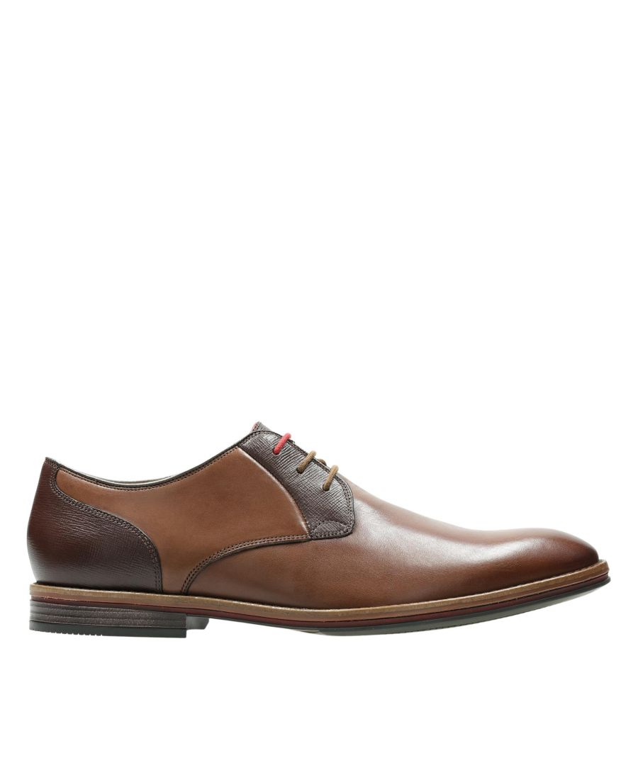 Image for Clarks Citistridelace 26153371 Tan Combi