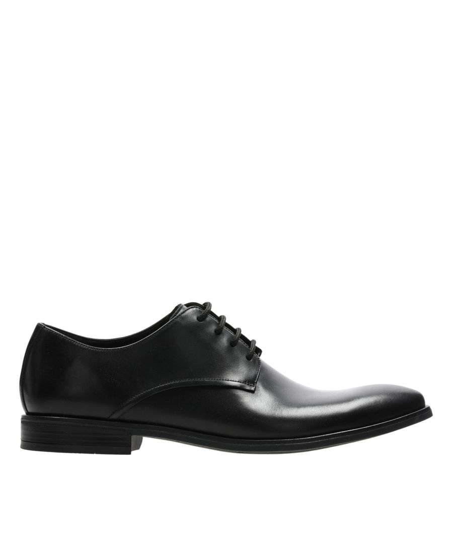 Image for Clarks Stanford Walk 26147893 Black Leather