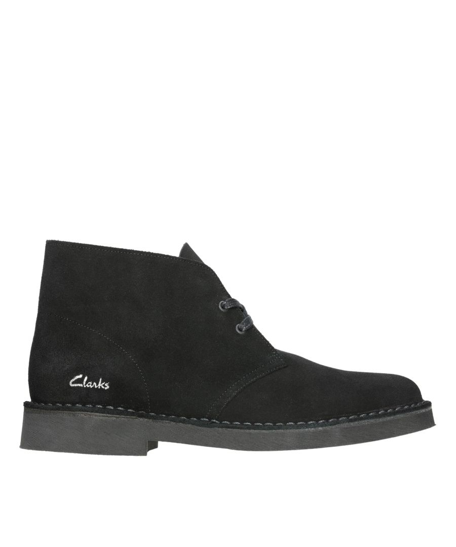 Image for Clarks Desert Boot 2 26155499 Black Suede