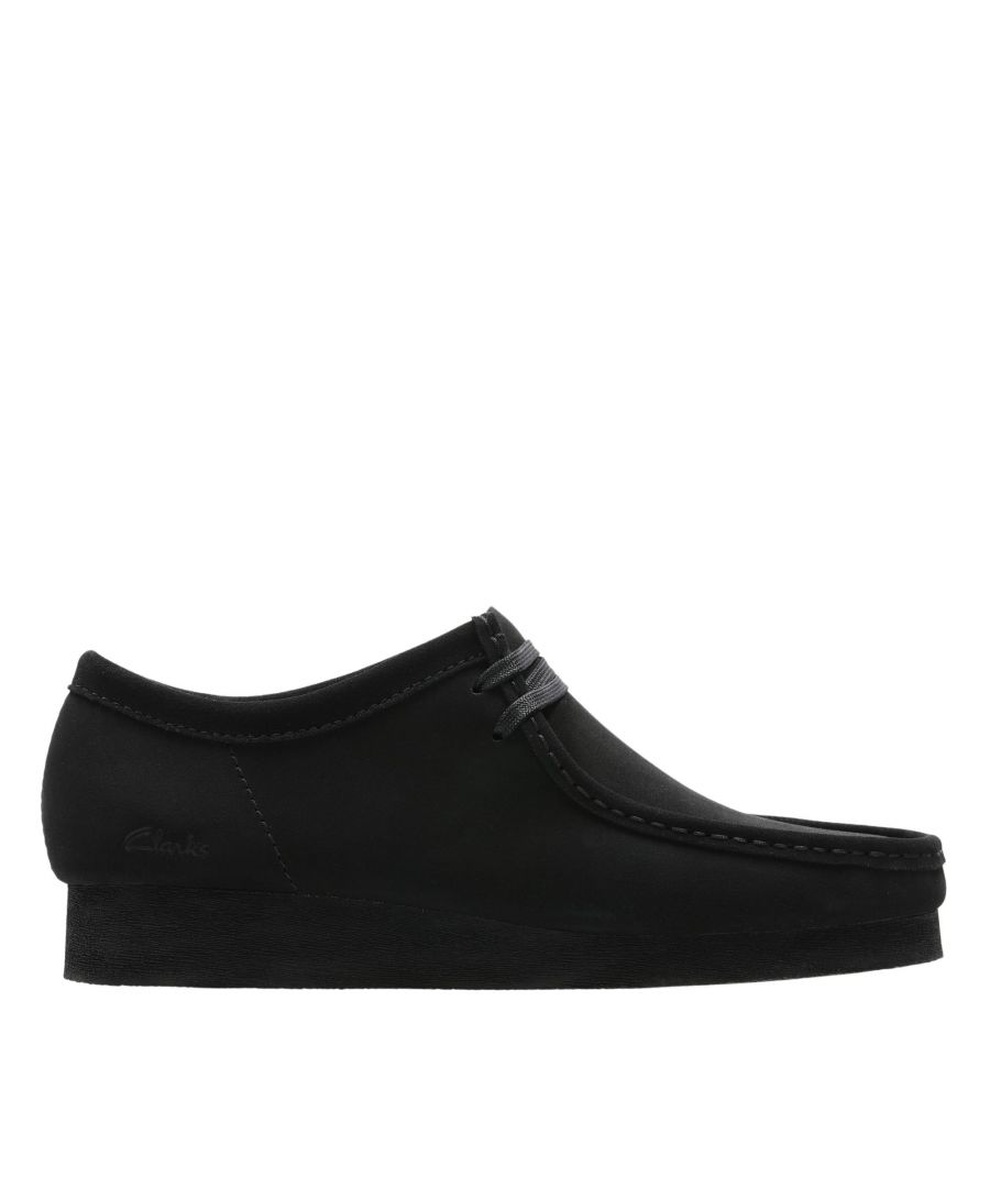 Image for Clarks Wallabee 2 26158276 Black Suede