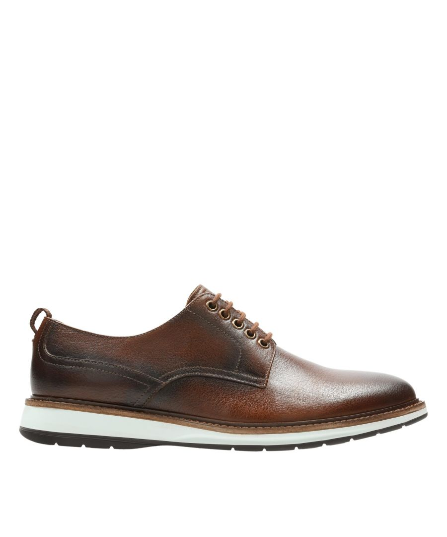 Image for Clarks Chantry Walk 26155070 Dark Tan Leather