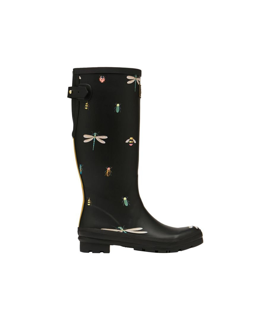 Image for Joules Welly Print 212644 Black Bugs
