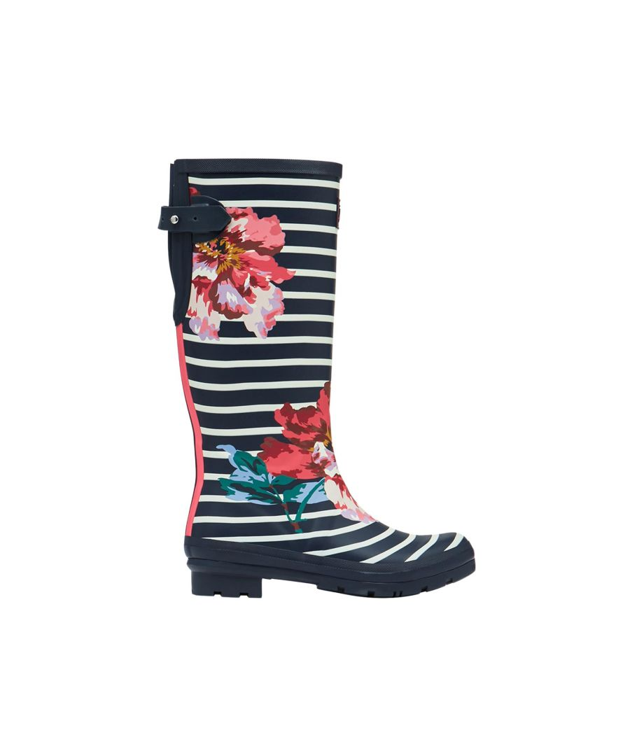 Image for Joules Welly Print 212644 Navy Floral Stripe