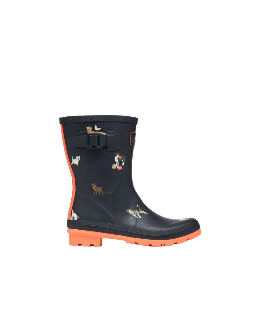 Image for Joules Molly Welly 212646 Navy Beach Dogs