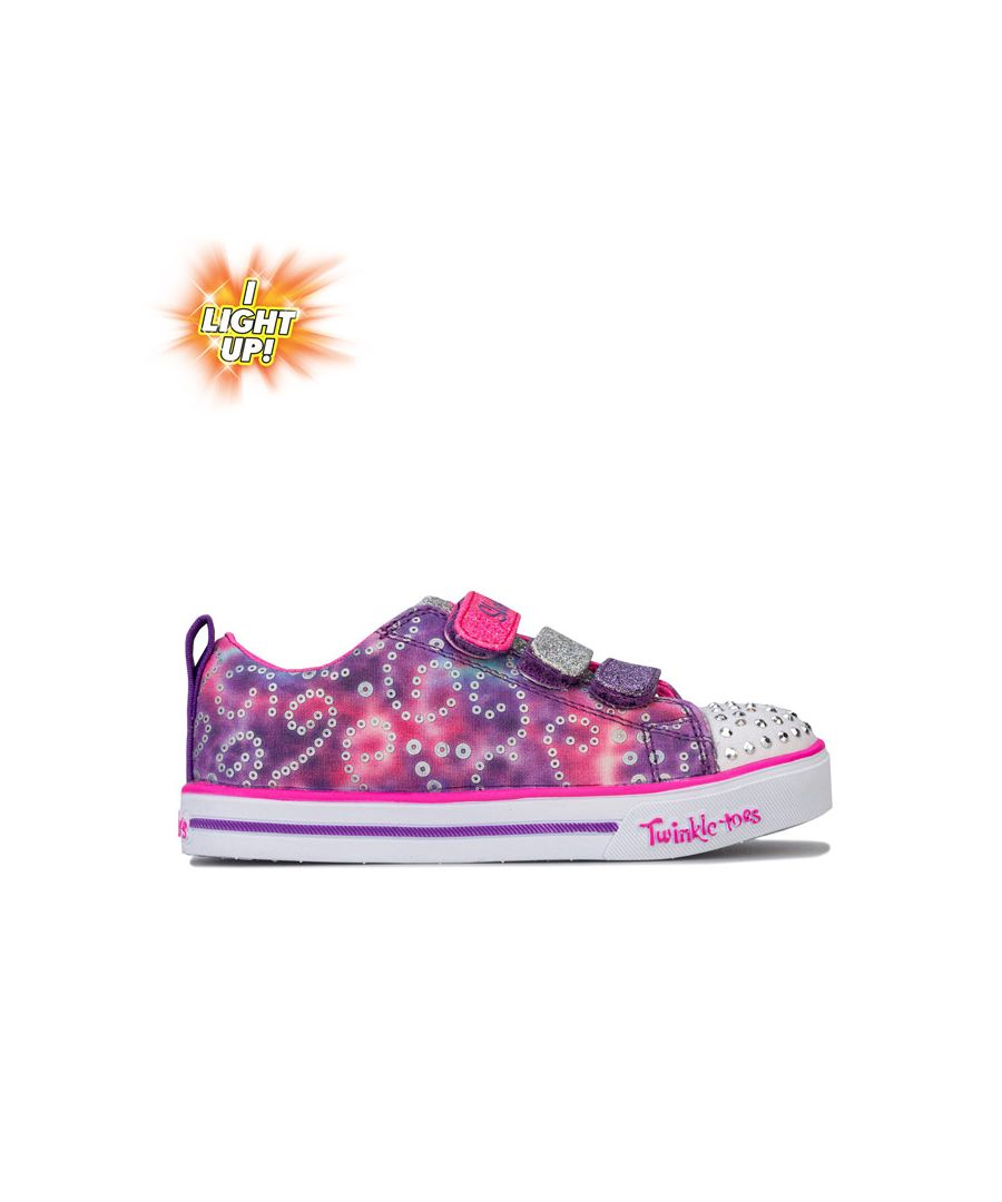 Image for Girl's Skechers Children TT Rainbow Brights Trainers in Pink