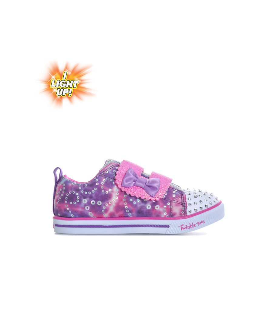 Image for Girl's Skechers Infant Rainbow Cuties Twinkle Toes Trainers in Pink