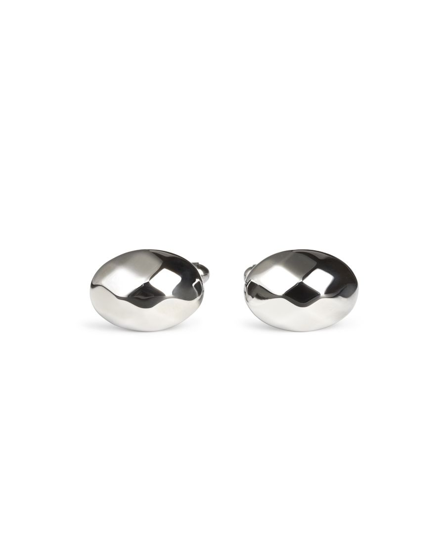 Image for Chunky Facet Oval Cufflinks
