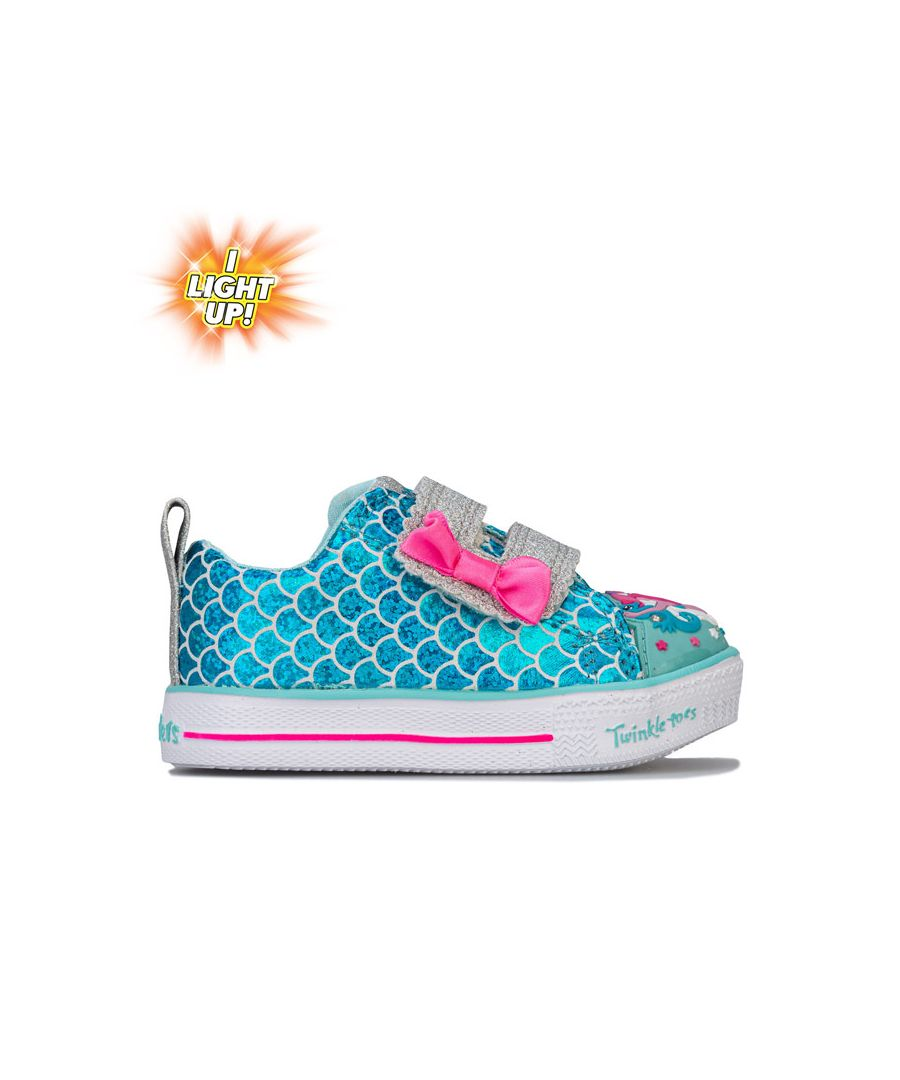 Image for Girl's Skechers Infants Twinkle Toes Mermaid Parade Trainers in Turquoise