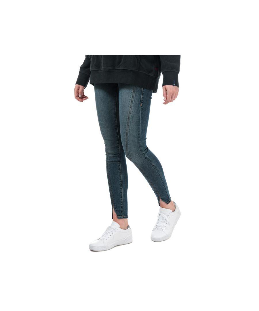 Image for Women's True Religion Halle Front Seams Super Skinny Jeans in Denim