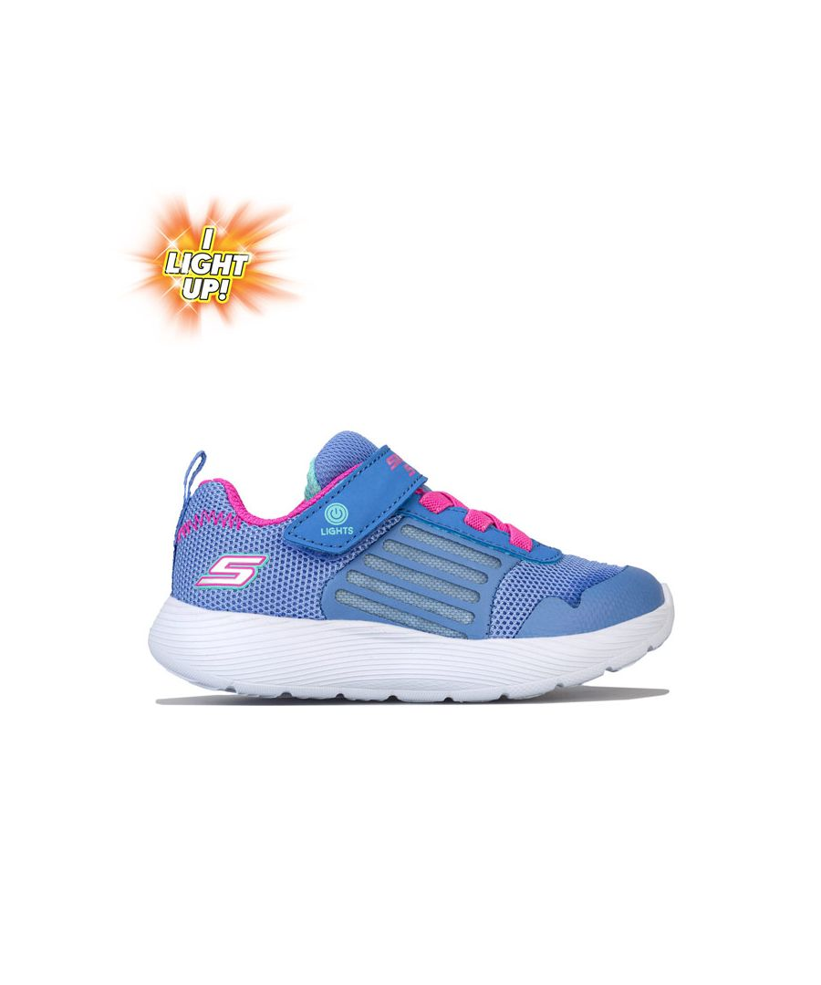 Image for Girl's Skechers Infant Dyna Lights Trainers in Blue