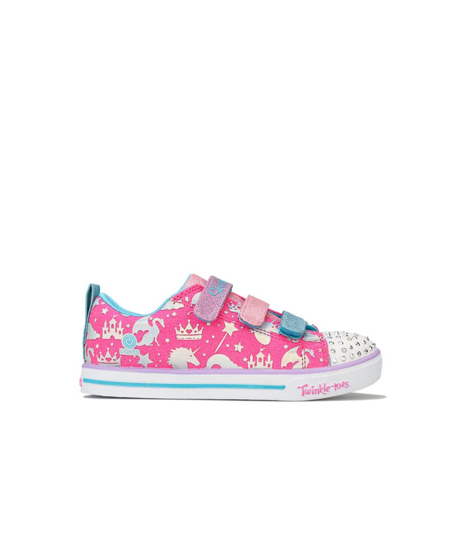Image for Girl's Skechers Children Sparkle Lite Sparkleland Trainers in Pink