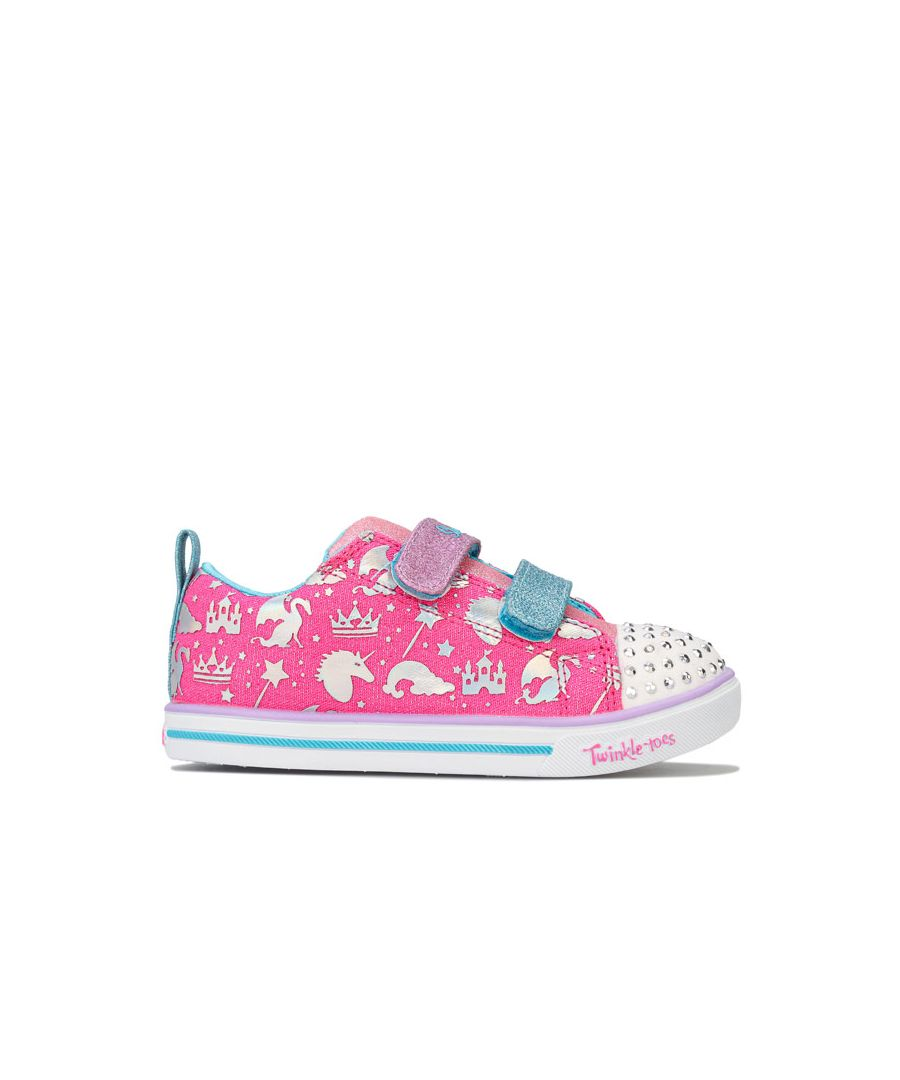 Image for Girl's Skechers Infant Sparkle Lite Sparkleland Trainers in Pink