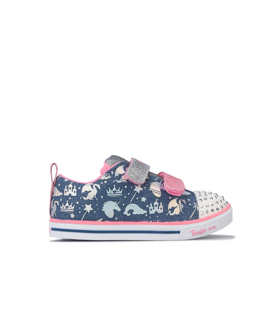 Image for Girl's Skechers Infant Sparkle Lite Sparkleland Trainers in Light Blue
