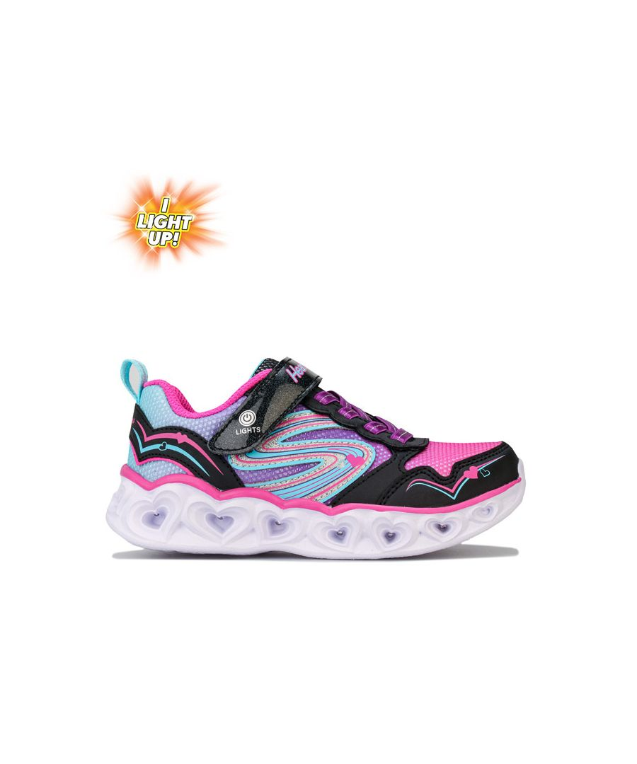 Image for Girl's Skechers Children Hearts Love Spark Trainers in Black