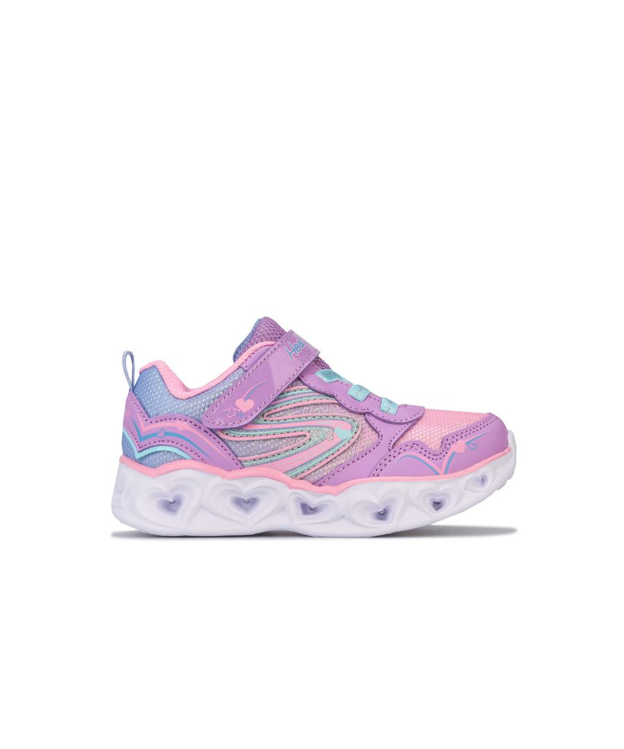 Image for Girl's Skechers Infant Hearts Love Spark Trainers in Purple
