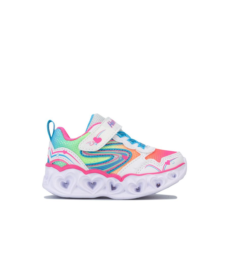 Image for Girl's Skechers Infant Hearts Love Spark Trainers in White
