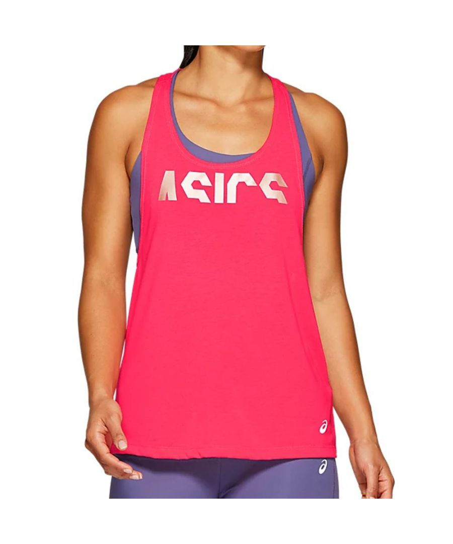 Image for Asics GPX Strap Womens Tank Top Pink - UK 12