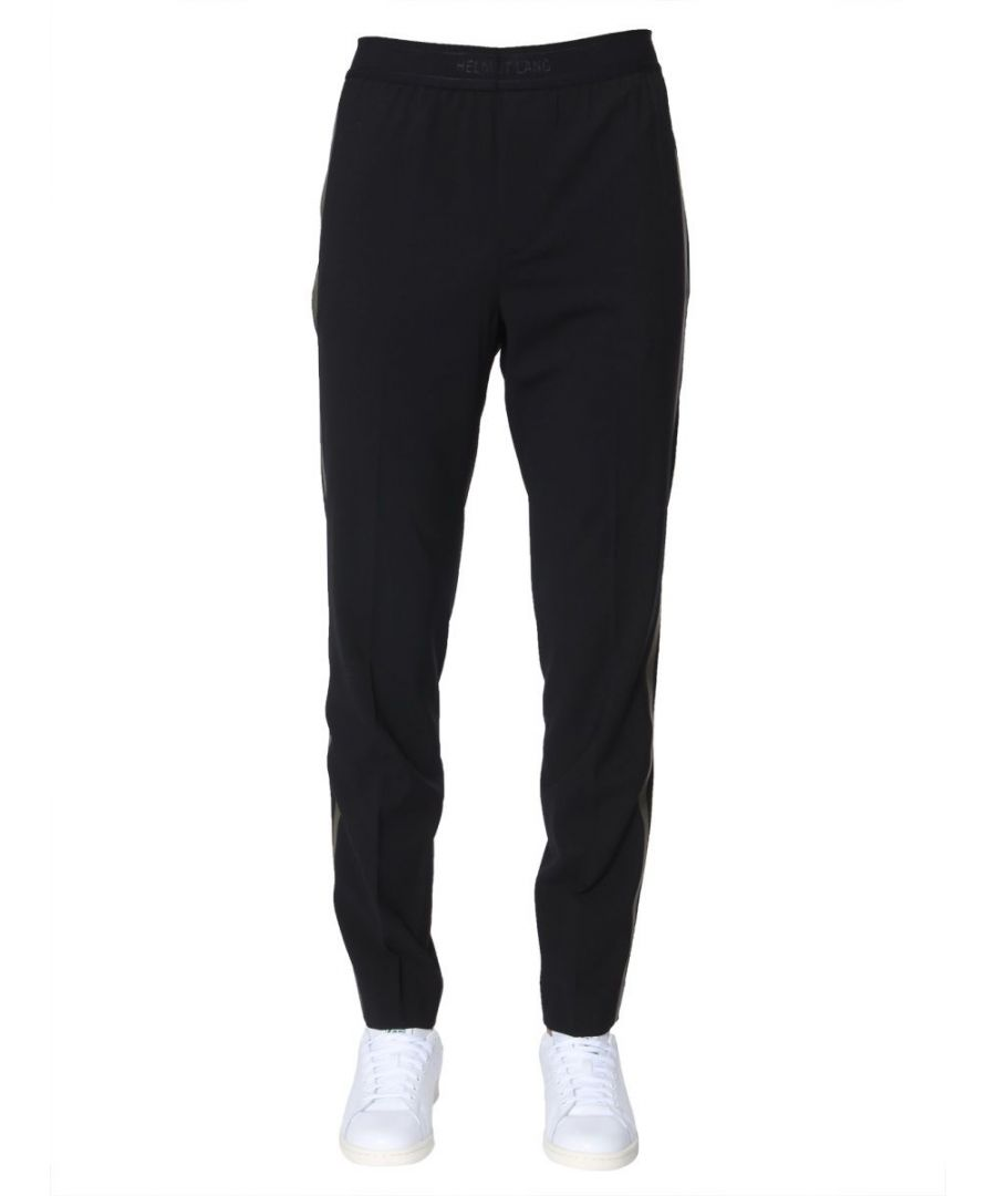 Image for HELMUT LANG MEN'S J04HM208YD0 BLACK WOOL JOGGERS