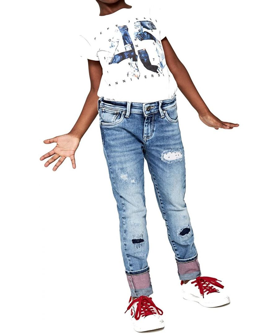 Image for Pepe Jeans Girls Pixlette Jeans in Light Blue