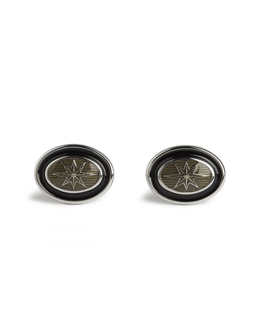 Image for Grey Star Oval Cufflinks
