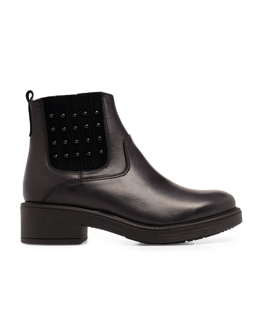 Image for María Barceló Leather Ankle Chelsea Boots Black Color Women