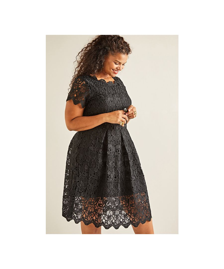 Image for Yumi Curves Guipure Lace Dress