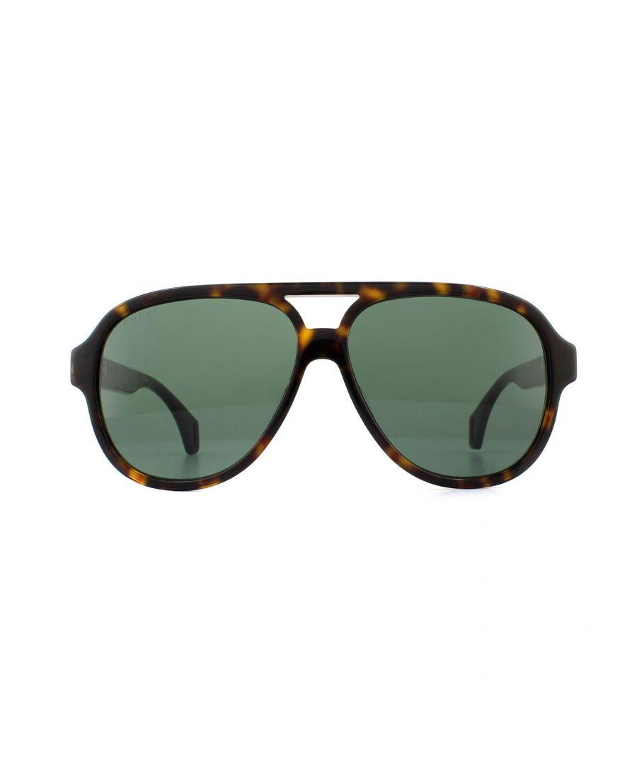 Image for Gucci Sunglasses GG0463S 003 Havana Green
