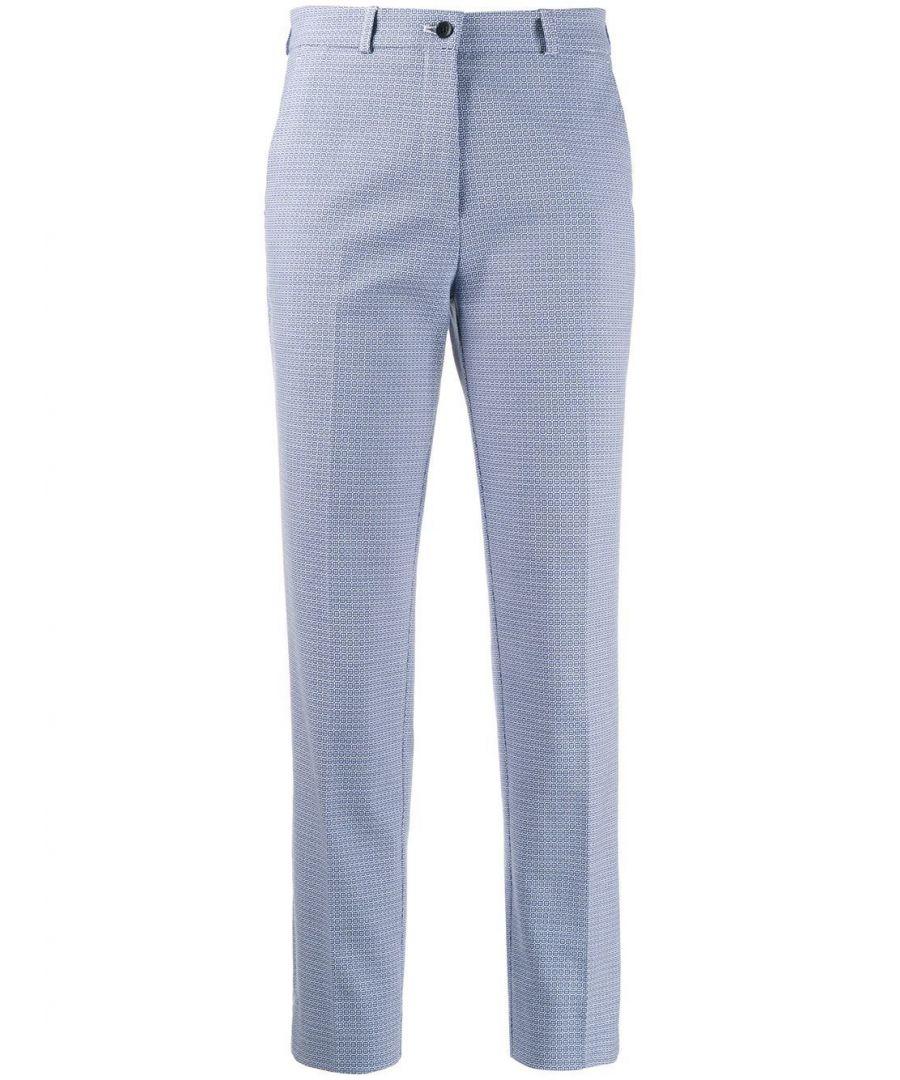 Image for ETRO WOMEN'S 133341595200 LIGHT BLUE COTTON PANTS