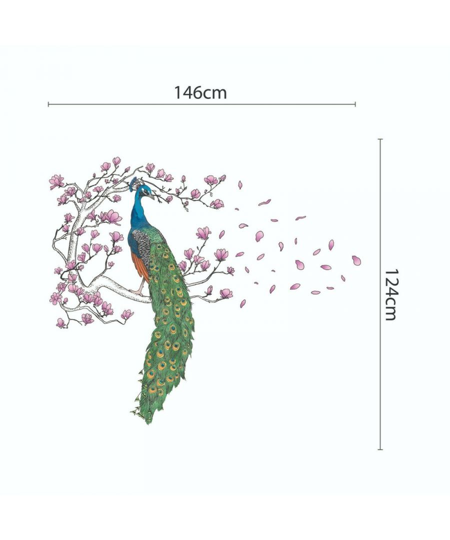 Image for WS9054 - Peacock and Magnolia tree