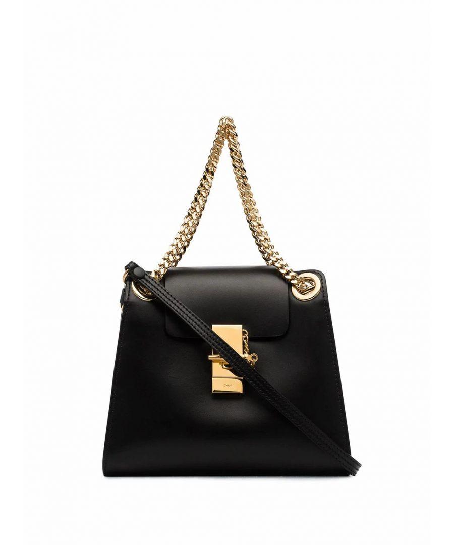 Image for CHLOÉ WOMEN'S CHC19AS118A37001 BLACK LEATHER SHOULDER BAG