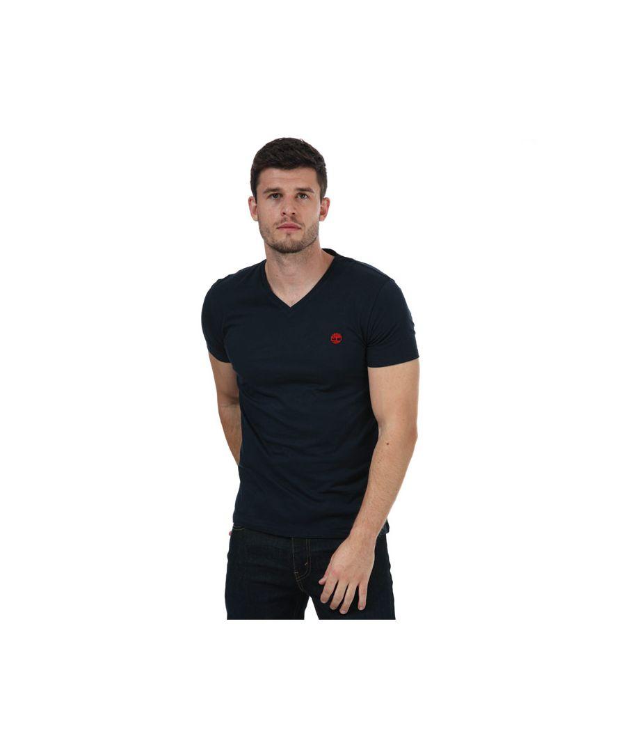 Image for Men's Timberland V-Neck Slim T-Shirt in Navy