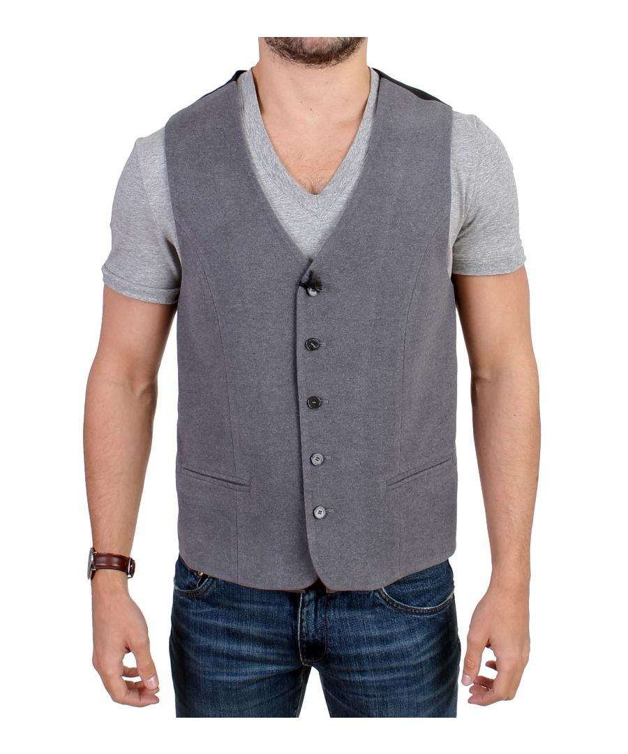 Image for Costume National Gray cotton blend casual vest