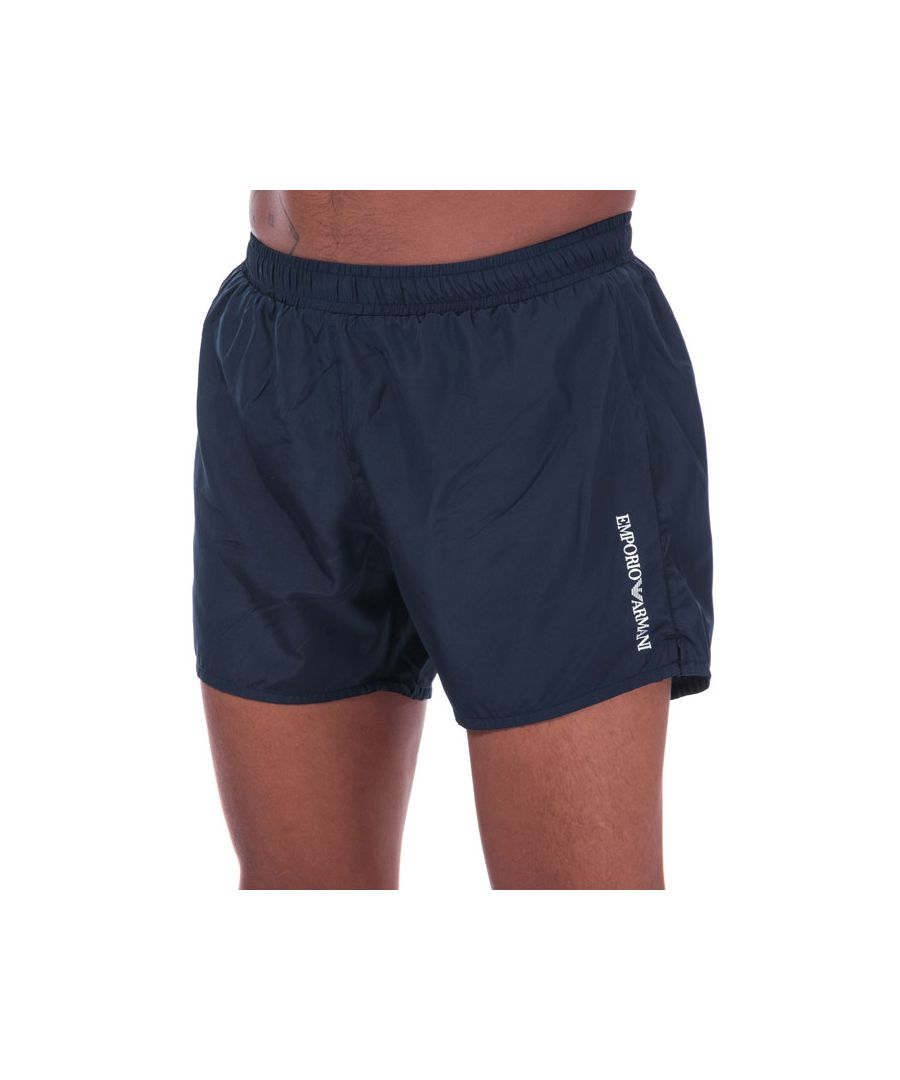 Image for Men's Armani Ultra Light Packable Swim Shorts in Navy