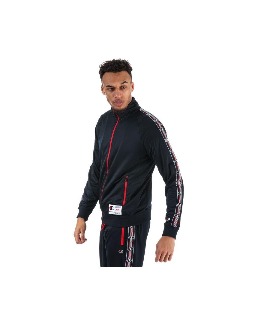 Image for Men's Champion Comfort Tech Poly Zip Jacket in Navy