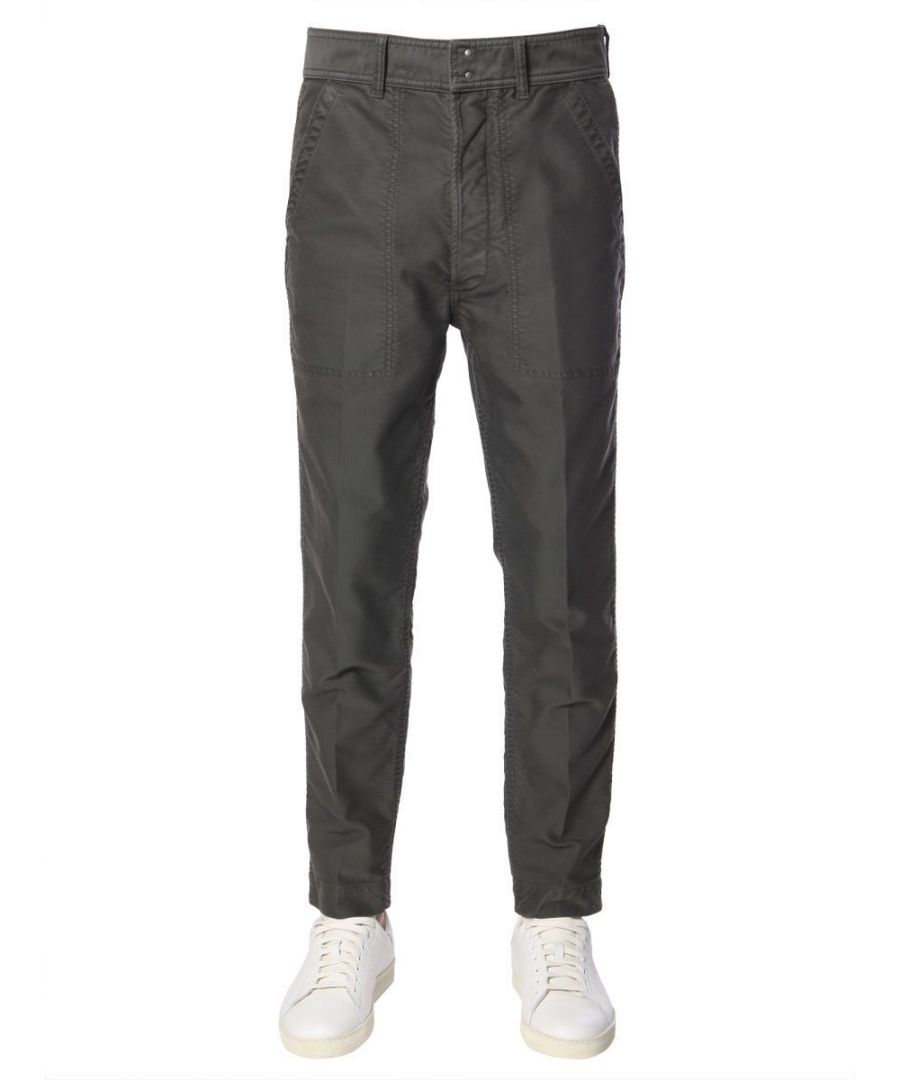Image for TOM FORD MEN'S BS111TFP215S08 GREY COTTON PANTS