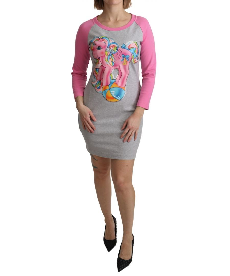 Image for Moschino Gray My Little Pony Top Sweater Dress