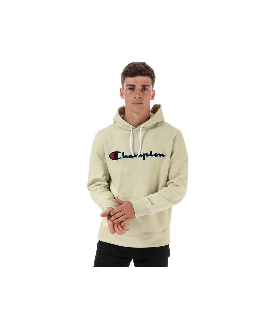 Image for Men's Champion Large Logo Hoody in Green