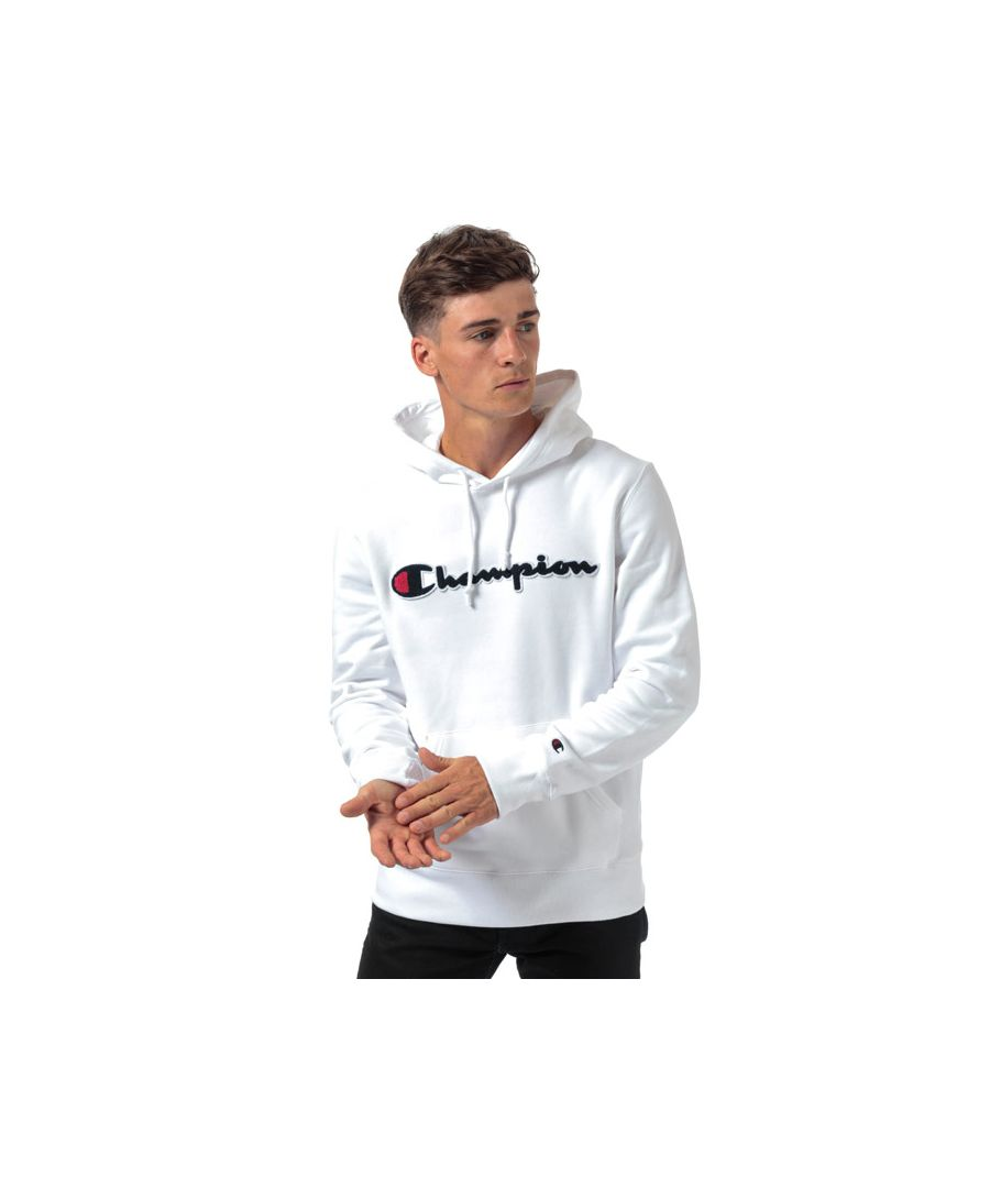 Image for Men's Champion Large Logo Hoody in White