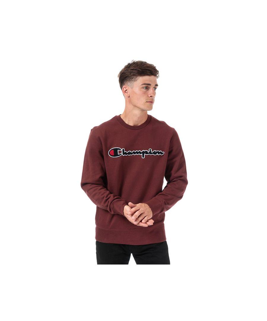 Image for Men's Champion Large Logo Sweatshirt in Burgundy