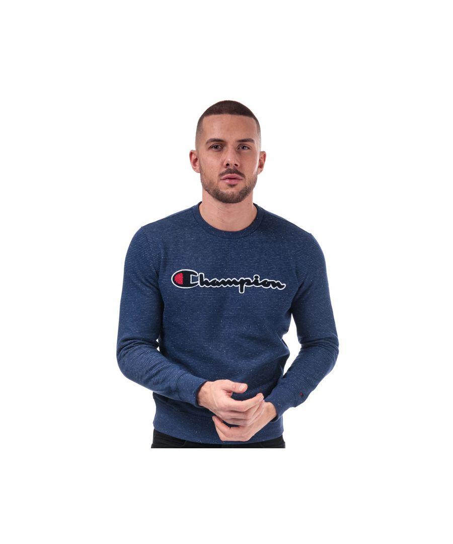Image for Men's Champion Large Logo Sweatshirt in Blue