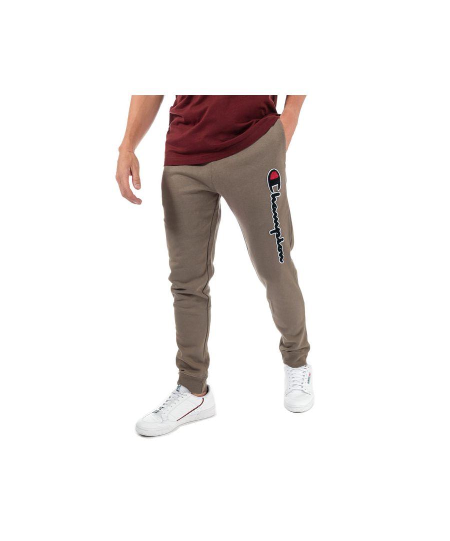Image for Men's Champion Large Logo Jog Pants in Brown