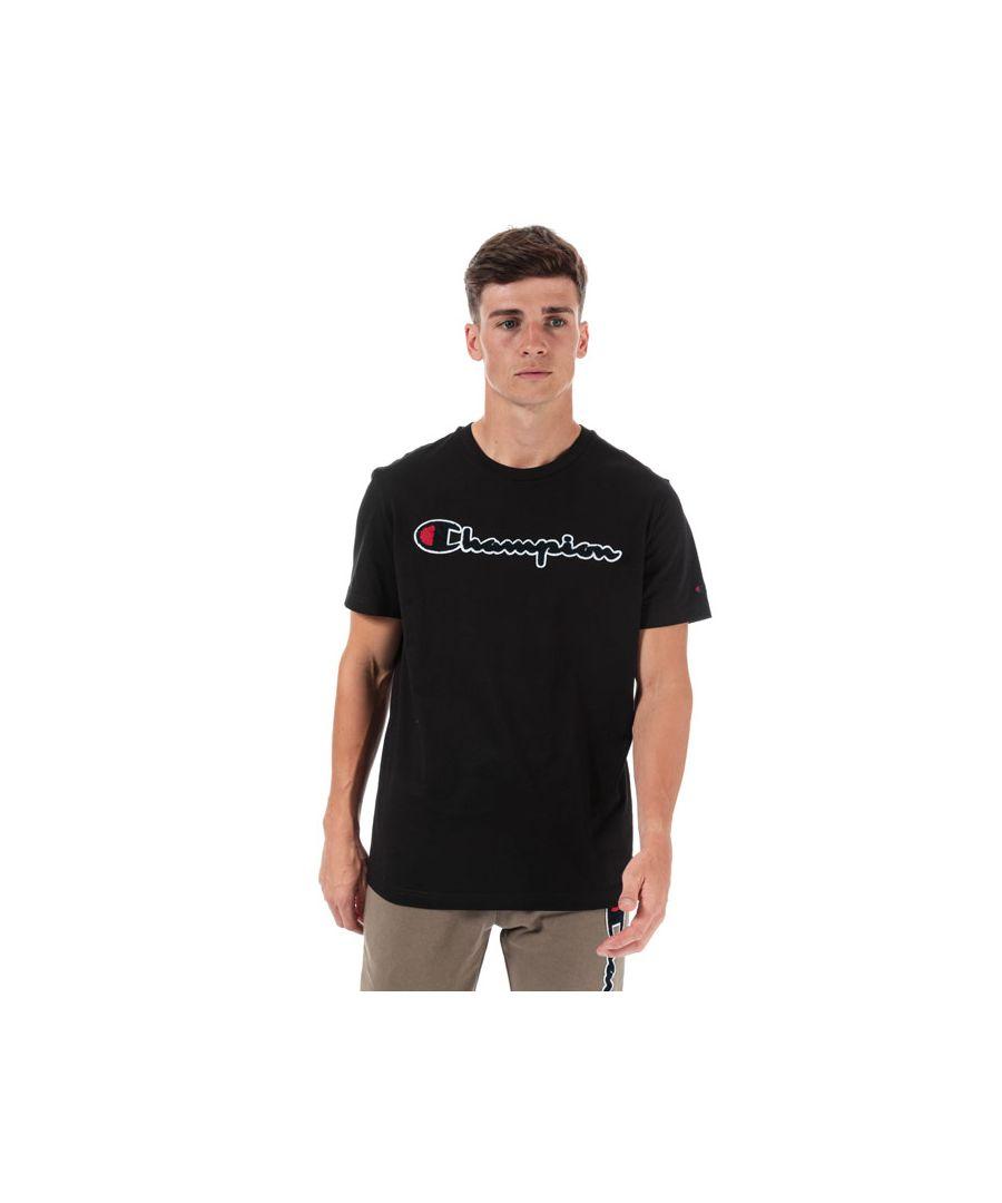 Image for Men's Champion Large Logo T-Shirt in Black