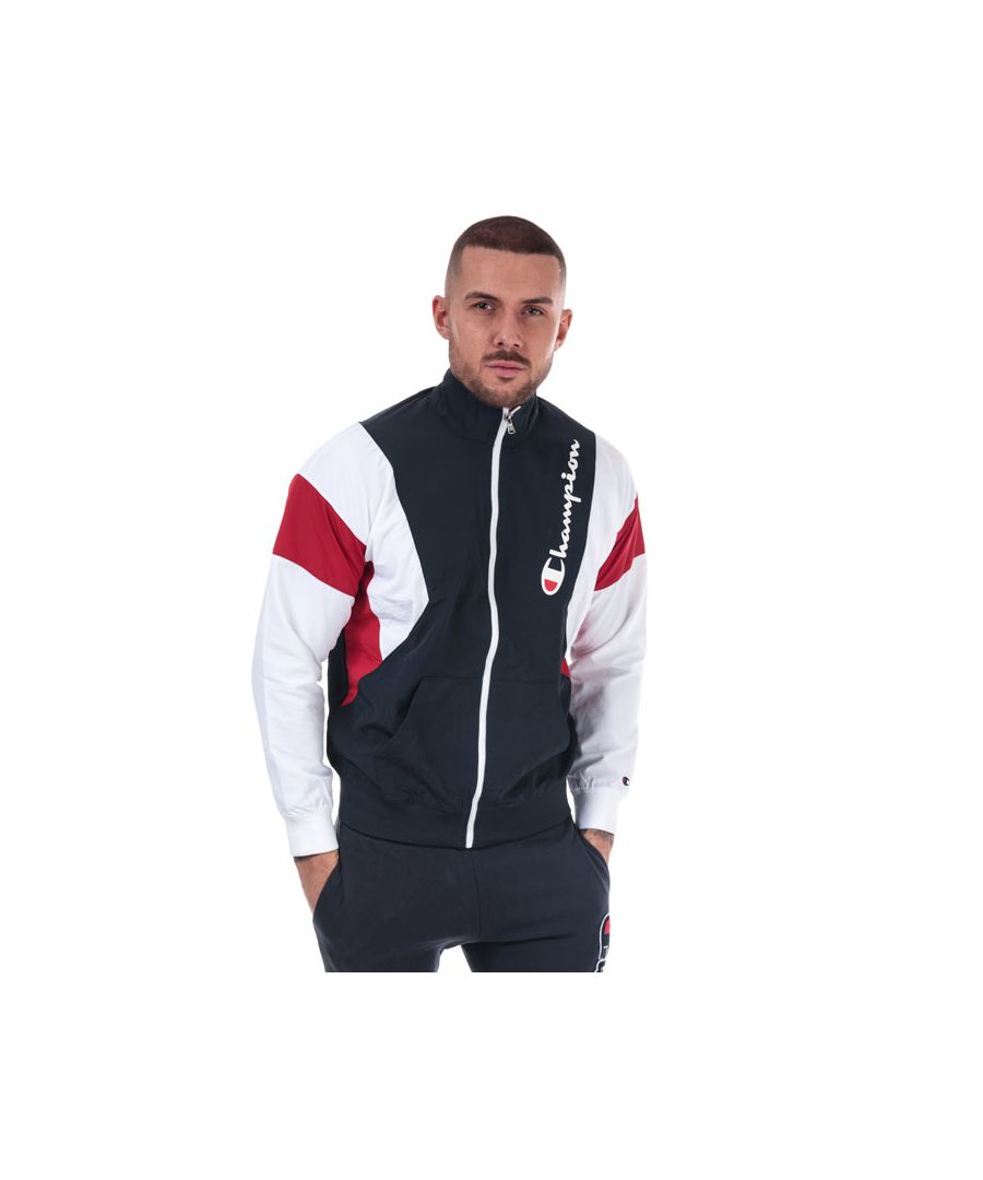 Image for Men's Champion Colour Block Track Top in Navy Red