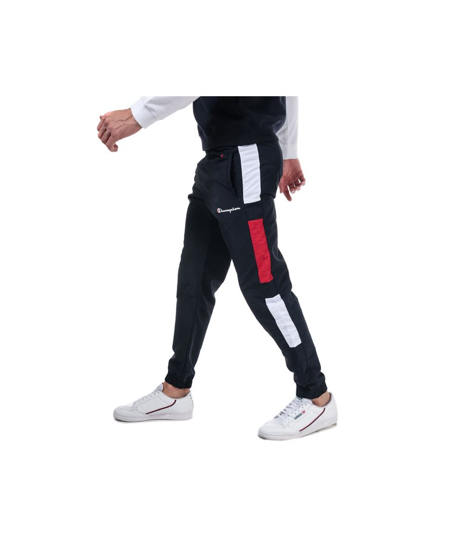 Image for Men's Champion Colour Block Track Pants in Navy Red