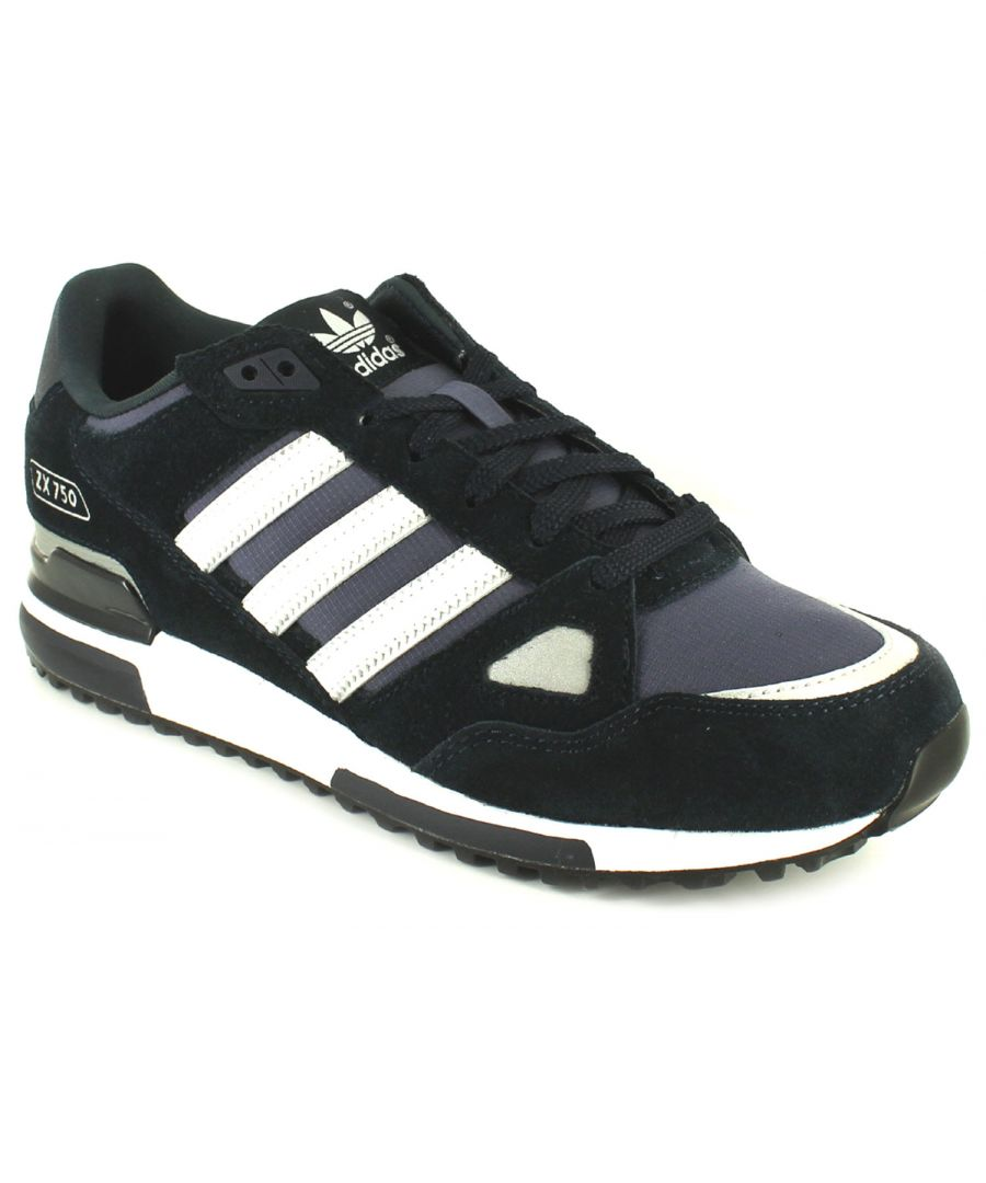 Image for New Mens/Gents Navy/White Adidas Leather Lightweight Running Shoes