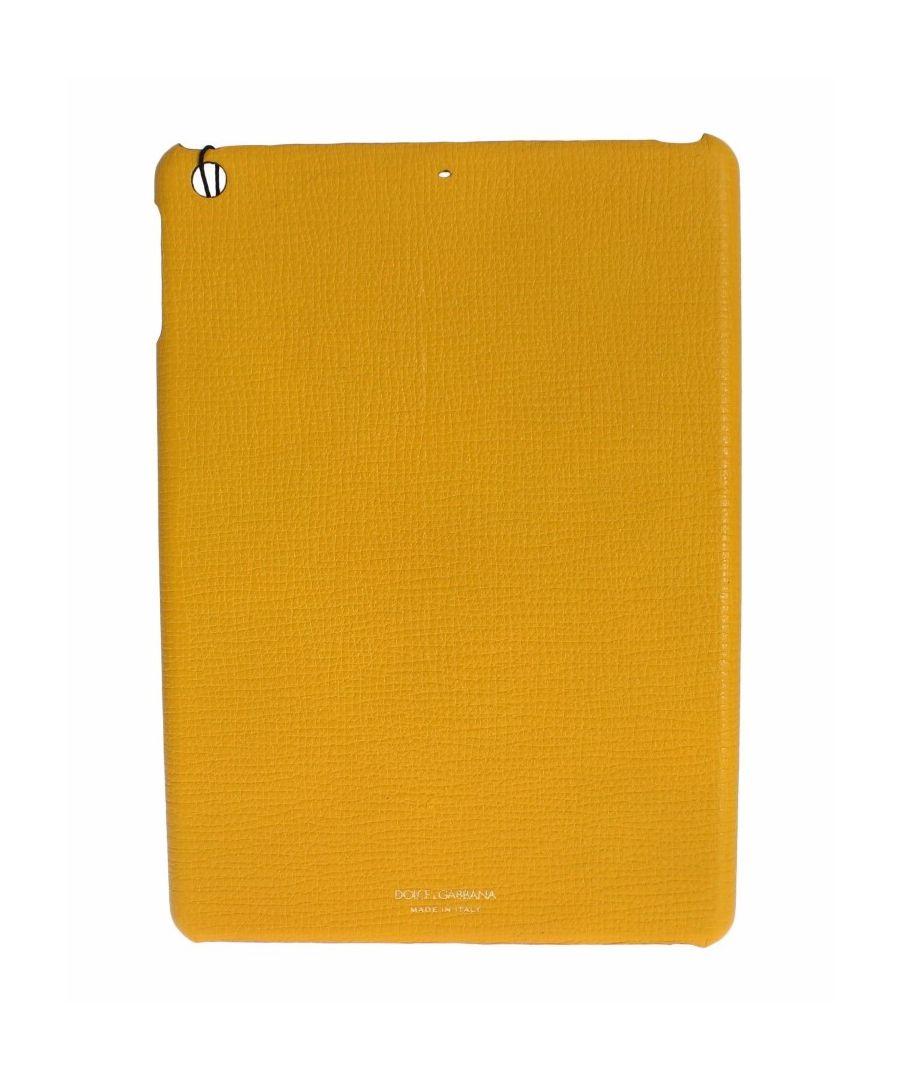 Image for Dolce & Gabbana Gelbes Leder Tablet Ipad Fall Abdeckung