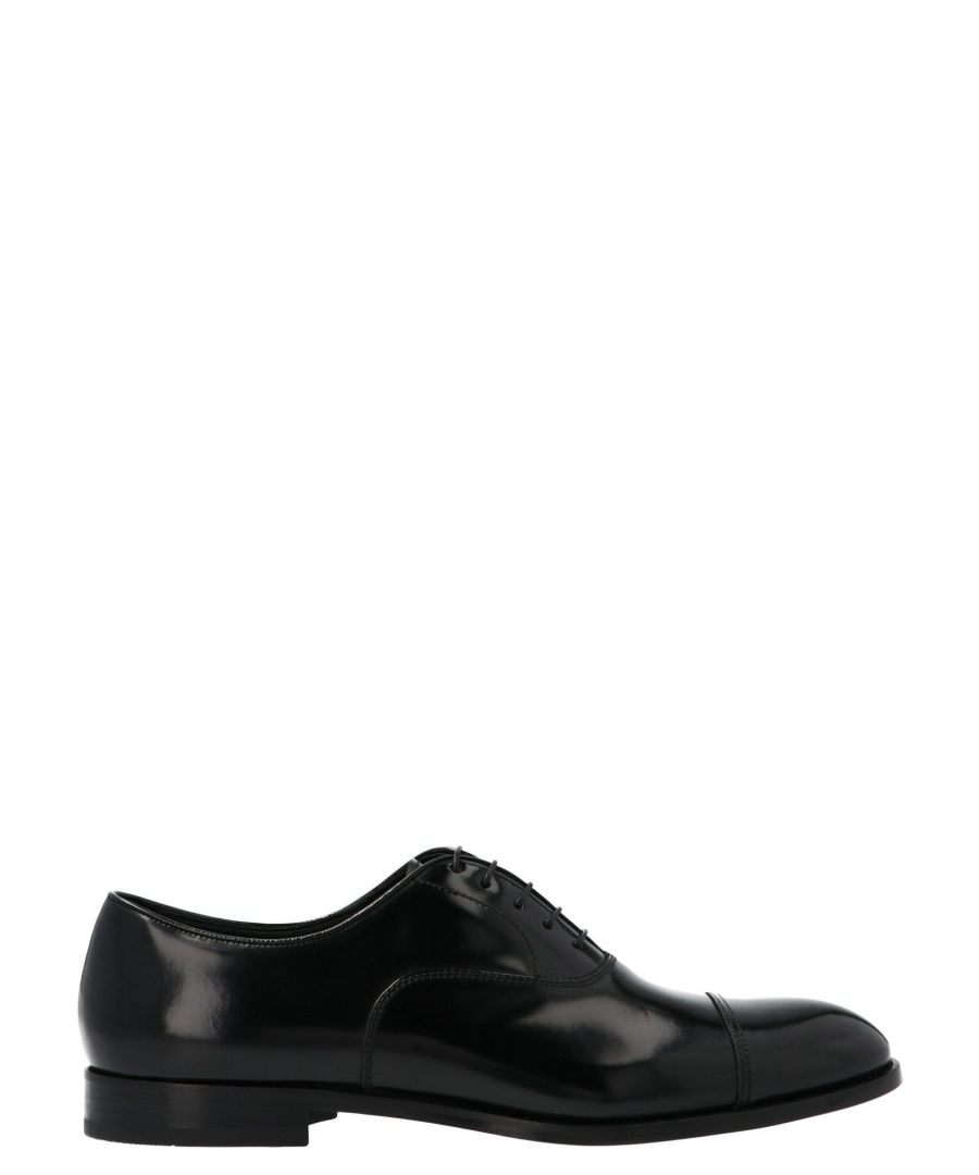 Image for DOUCAL'S MEN'S DU1002YORKUF028NN00 BLACK LEATHER LACE-UP SHOES