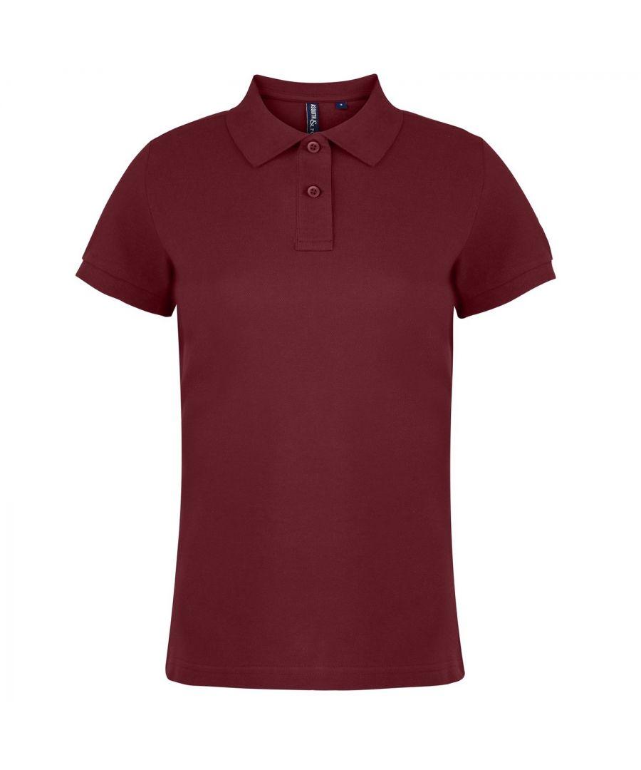 Image for Asquith & Fox Womens/Ladies Plain Short Sleeve Polo Shirt (Burgundy)