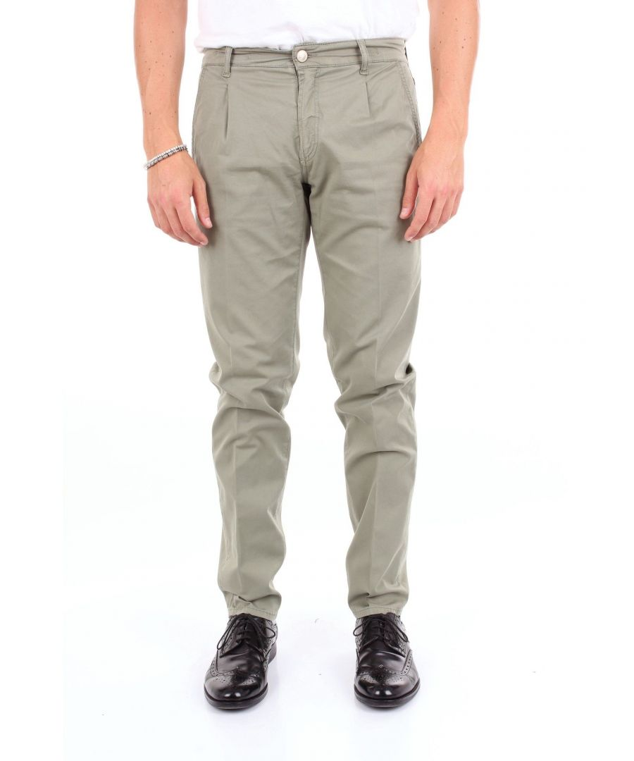Image for MICHAEL COAL MEN'S AUL2595GREENOLIVE GREEN COTTON PANTS